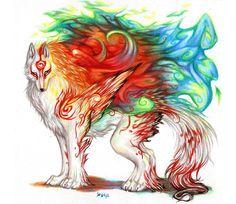 Shiranui Wolf by ~dragonghostangel on deviantART