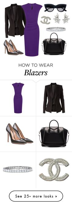 """""""Untitled #1534"""" by aginica on Polyvore featuring Alexandre Vauthier, HotSquash, Gianvito Rossi, Givenchy and Chanel"""
