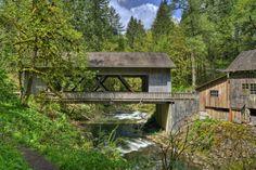 Cedar Creek Grist Mill by Mitch Hammontree on Capture Southwest Washington // Cedar Creek Grist Mill Covered Bridge