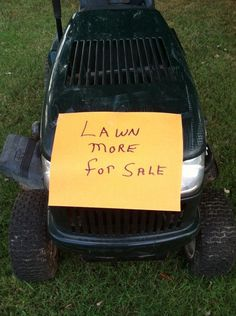 I never considered 'lawn' a verb.