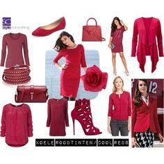 Voorbeelden van koele roodtinten. Margriet Roorda-Faber. Style Consulting.