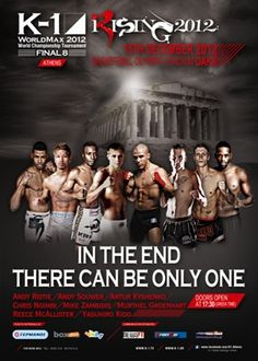 K-1 World MAX 2012 in Athens K1 Kickboxing, K 1, Boxing News, Mixed Martial Arts, Finals, Announcement, Reading, Athens, World