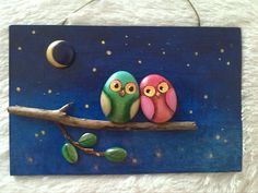 Oksana Bastis - Google+ Stone Crafts, Rock Crafts, Arts And Crafts, Pebble Pictures, Sea Crafts, Rock And Pebbles, Driftwood Crafts, Caillou, Rock Painting Designs