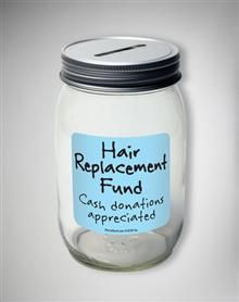 Hair Replacement Mason Jar Bank