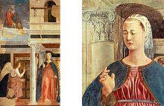 Anunciación, 1452-66, Piero della Francesca, (Arezzo, San Francesco).