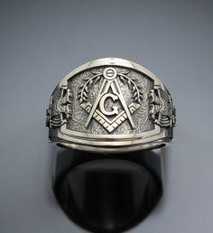 Scottish Rite Masonic ring cigar band style 029 by ProLineDesigns