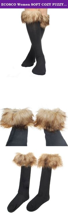 ECOSCO Women SOFT COZY FUZZY Faux Fur Leg Warmers Sock Boots Cuffs Cover Brown. Fashion, stylish, versatile, soft, stretch, and comfy. Material: Faux Fur There may be some fallen hairs attached during production, you may tap it slightly to remove the hairs Size: Total Length: 45cm = about 17.7 inches. Free size/one size fits all Dry clean only. Do not wash,bleach or iron. Easily scrunched into boots One pair per pack. Color: brown ECOSCO Leg warmer.