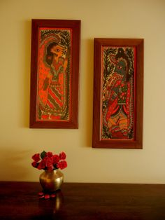 Bright Red Madhubani Wall Art To Brighten Up The Room Gypsy Home Decorindian