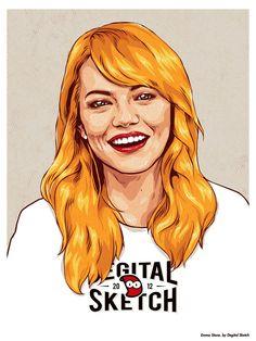 Emma Stone by Degital Sketch