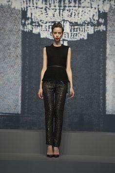 Wes Gordon - NY Fashion Week. These pants are fab.
