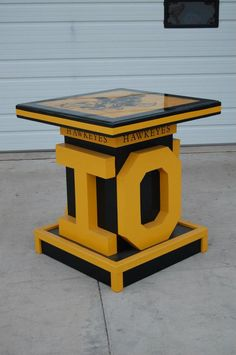 An Iowa Hawkeyes Tailgating Bar I built 3ft by 3ft