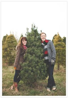 cute Christmas picture idea for your first tree
