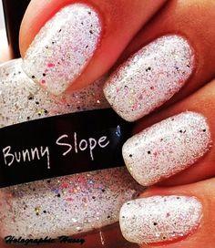 Bling White Glitter Nail Polish