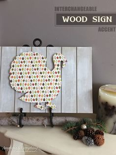 DIY Interchangeable Wood Sign - Anything & Everything