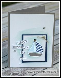 Sailboat made with the Swirly Bird stamp set by Stampin' Up!