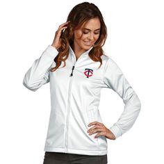 Minnesota Twins Antigua Women's Golf Full-Zip Jacket - White - $86.99