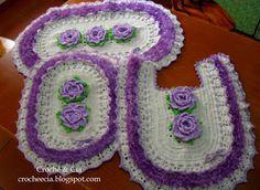 Croche e Cia: Conjunto de banheiro em croche