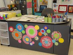mrs picasso's art room: teacher's decorated desk