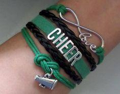 Cheer bracelet Cheerleader gift Cheerleading jewelry