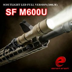 Element SF M600U Scout light LED 500 Lumens CREE LED XP-G R5 Pistol Flashlight Full Version Hunting Gun Waterproof Torch EX356