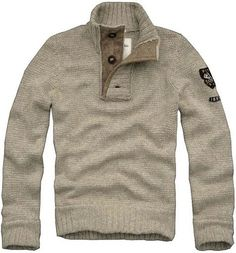 LOVE sweaters like this on guys... especially if you add on a leather jacket....... haha