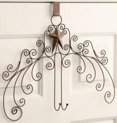 Your Heart's Delight by Audrey's - Rusty Tin Star - Door Wreath Holder