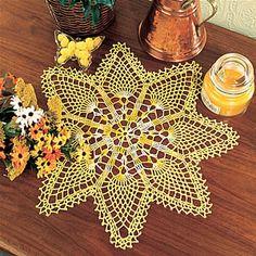 crochet star flower
