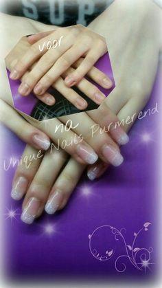 #nagels #kunstnagels #acryl #acrylnagels #gelnagels #purmerend #gellak #UniqueNailsPurmerend #french #manucire #nailart