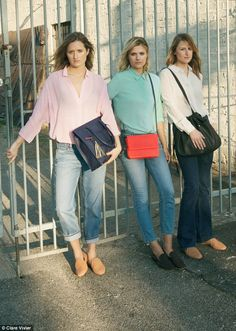 The apple doesn't fall far from the tree: Meryl Streep's daughters (L-R) Grace, Louisa and Mamie star in a new campaign