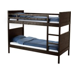 IKEA NORDDAL Bunk bed frame, black (410 CAD) ❤ liked on Polyvore featuring home, children's room, children's furniture, bed, furniture, bunk bed and kids