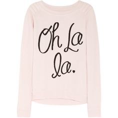 Zoe Karssen Oh La La cotton-blend jersey sweatshirt - ShopStyle Women's Fashion Passion For Fashion, Love Fashion, Autumn Fashion, Womens Fashion, French Fashion, Looks Style, Style Me, Bon Look, Top Mode