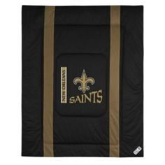 Sports Coverage 01JSCOM1SAITWIN Sideline New Orleans Saints Twin Comforter in Black