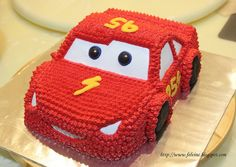 lightning mcqueen cake by felvincc, via Flickr