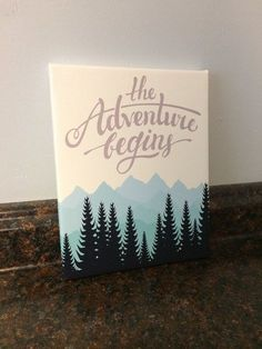 **Can customize this piece with different colors and saying!! Just send me a message!**  This is NOT a print on paper. It is printed on CANVAS. Perfect saying for any adventure themed nursery, room, playroom etc!! And makes the perfect gift for that new mom-to-be! No need for frame. Comes with a saw tooth hanger on the back (nail for hanging not included). It is also sealed with a clear varnish to protect the canvas. Can be wiped clean with a damp cloth. This listing includes: (Choose size…