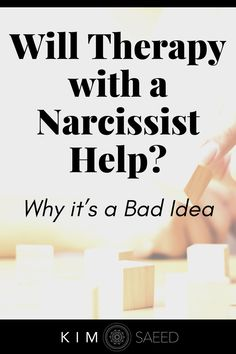 Going to therapy with a narcissist most likely will not help. Narcissists don't go to therapy with goals in mind (such as improving their relationship with you). They go to therapy with agendas in mind.
