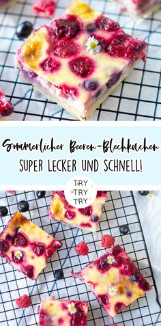 Summery berry sheet cake - Kuchen Backen - Rezepte - Healt and fitness Easy Smoothie Recipes, Easy Cake Recipes, Cupcake Recipes, Food Cakes, Torte Au Chocolat, Berry Cake, Summer Cakes, Pumpkin Spice Cupcakes, Ice Cream Recipes