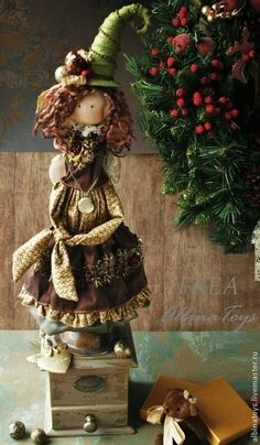 Коллекционные куклы ручной работы. Ярмарка Мастеров - ручная работа Рождественский ангел-фея Фрея.. Handmade.