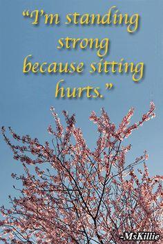 Six-Word Memoir on Standing Strong