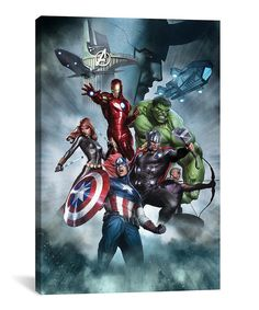 The Avengers & Loki Gallery-Wrapped Canvas by iCanvas #zulily #zulilyfinds