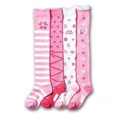 b92b4224879 Morality Charm Autumn And Winter Knee-high Socks Pink Lovely Children 4  Pairs -- Awesome products selected by Anna Churchill