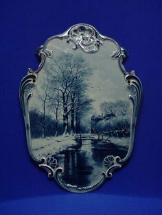 Wall plaque Royal Delft Museum Blue