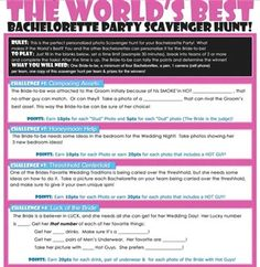 This Is The Worlds Best Bachelorette Party Scavenger Hunt And Game Will Make It