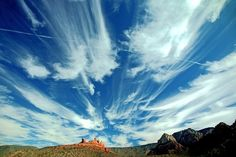 Dramatic sky in Sedona