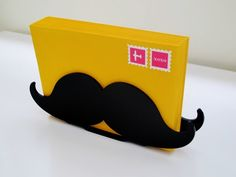 Mustache Letter Holder Black Desk Organizer Desk by beepobjects