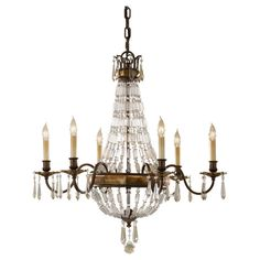 The Bellini Collection crystal chandelier will add sparkle and vintage charm to your home! Inspired by Neo Classical empire chandeliers, it is dripping with unique rectangular crystals and sculptured bobeches, with a unique pairing of Antique Quartz and c