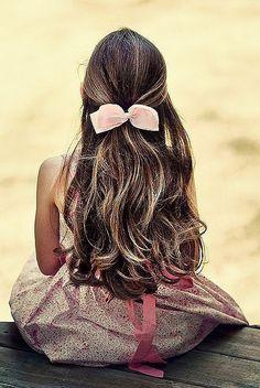 Beautiful little girls hair