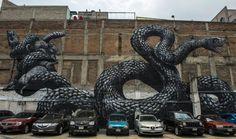 Arte callejero en México  Por: Elespectador.com  Varias fachadas de edificios fueron pintadas por artistas locales y extranjeros en la capital mexicana.