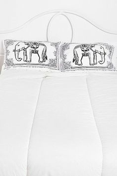 Eastern Elephant Pillowcase - Set Of 2