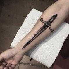 Is Tattoos Of Daggers Still Relevant? - tattoos of daggers Forearm Tattoos, Body Art Tattoos, New Tattoos, Tattoos For Guys, Cool Tattoos, Tatoos, Knife Tattoo, Sword Tattoo, I Tattoo