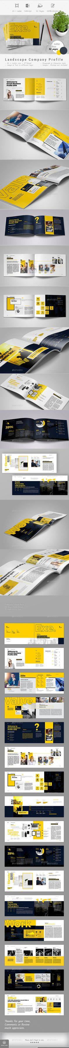 Landscape Company Profile Brochure Template InDesign INDD